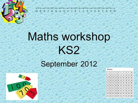 Maths workshop KS2 September Which of these words would you use to describe mathematics? easy fun challenging exciting useful scary hard frightening.