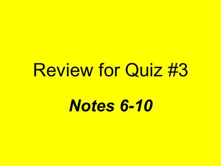 Review for Quiz #3 Notes Click for Answer What was the name of the economic plan to help land owners and former slaves make money, but ultimately.