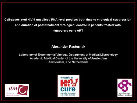 Alexander Pasternak Laboratory of Experimental Virology, Department of Medical Microbiology Academic Medical Center of the University of Amsterdam Amsterdam,