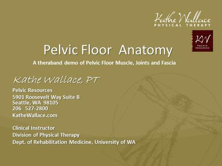 A theraband demo of Pelvic Floor Muscle, Joints and Fascia