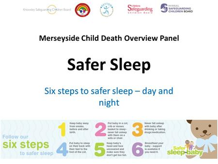 Merseyside Child Death Overview Panel Safer Sleep Six steps to safer sleep – day and night.