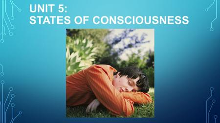 UNIT 5: STATES OF CONSCIOUSNESS. COPYRIGHT © ALLYN & BACON 2007 LEVELS OF CONSCIOUSNESS Conscious Preconscious Unconscious Nonconscious.