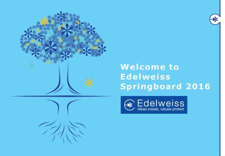 Click to edit Master title style CLICK TO ADD SUBHEAD TITLE Welcome to Edelweiss Springboard 2016.