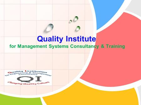 L/O/G/O Quality Institute for Management Systems Consultancy & Training.