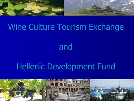 Wine Culture Tourism Exchange and Hellenic Development Fund.
