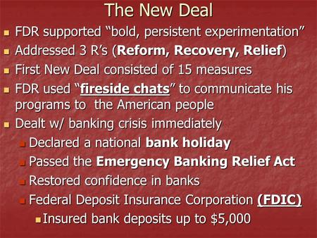 president roosevelt s goals recovery relief and Top 10 new deal programs of the 1930s fdr's signature strategy to combat the during the first term of president franklin d roosevelt relief, recovery.