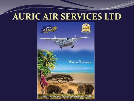 AURIC AIR SERVICES LTD World Travel Award Winner.