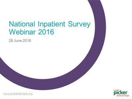 National Inpatient Survey Webinar June 2016.