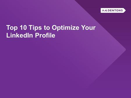 Top 10 Tips to Optimize Your LinkedIn Profile. 15 December million LinkedIn users in the world 2 new users per second 107 million users in U.S.