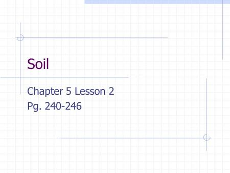 Soil Chapter 5 Lesson 2 Pg What do you notice?…