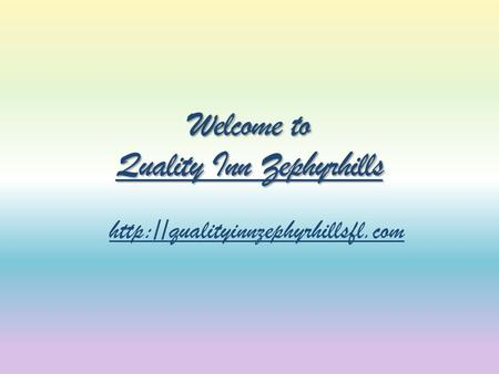 Welcome to Quality Inn Zephyrhills Quality Inn Zephyrhills Quality Inn Zephyrhills