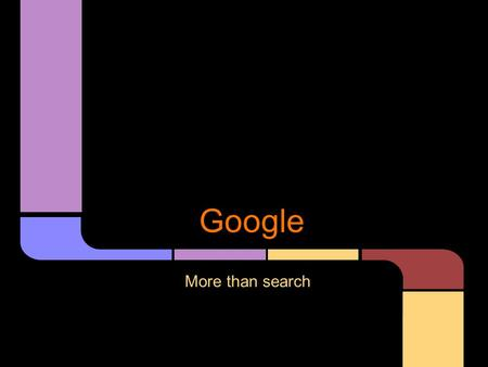 Google More than search. And the Web was without form, and void; and darkness was upon the face of the Web. And the Spirit of Google moved upon the face.
