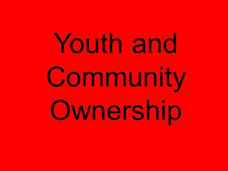 Youth and Community Ownership. Connect with Community Leadership Provide Youth Meaningful Roles Contact Partners Negotiate Roles Establish Community Collaboration.