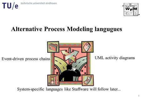1 Alternative Process Modeling langugues UML activity diagrams Event-driven process chains System-specific languages like Staffware will follow later...