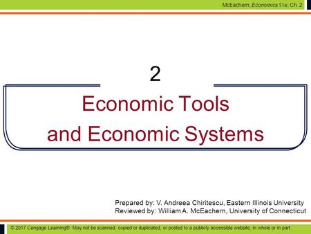 McEachern, Economics 11e, Ch. 2 Prepared by: V. Andreea Chiritescu, Eastern Illinois University Reviewed by: William A. McEachern, University of Connecticut.