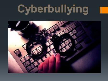 Cyber bullying is bullying that takes place using electronic technology. Electronic technology includes devices and equipment such as cell phones, computers,