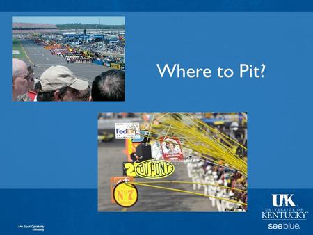 Where to Pit? An Equal Opportunity University. Where to Pit? An Equal Opportunity University Enforces Data Analysis, Logic, Problem Solving.