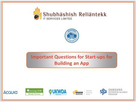 Important Questions for Start-ups for Building an App.