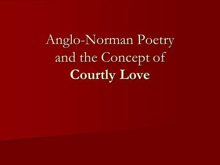 Essay about courtly love songs