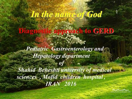 Diagnostic approach to GERD in child