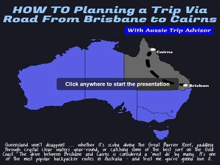How to Planning a Trip Via Road from Brisbane to Cairns
