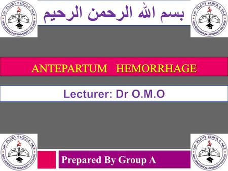 Antepartum Hemorrhage PPT