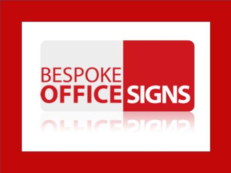 Buy Custom Raised Metal Office Logo & Reception Signage at Bespoke Office Signs in UK