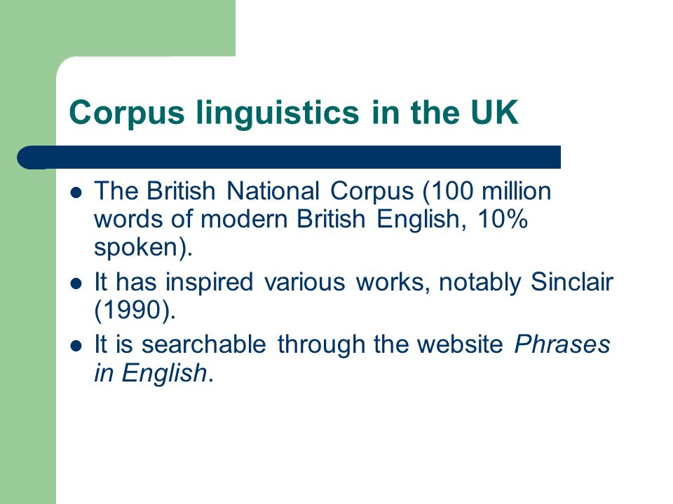 Corpus linguistics in France The FRANTEXT database was created in the 1960s and is maintained by the INALF.