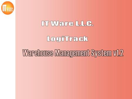 Warehouse Management System v1.2