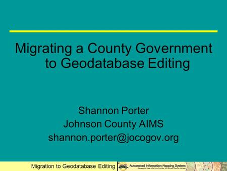 Migrating a County Government to Geodatabase Editing