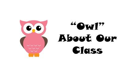Owl About Our Class. Daily Routine Arrival Circle Time Small Group Activities (skill-based) Centers Read Aloud Snack Motor Time (playground or gym) Prepare.