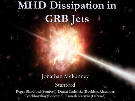 MHD Dissipation in GRB Jets