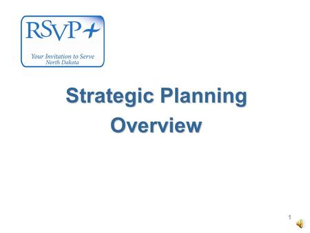 1 Strategic Planning Overview 2 3 Strategic Plan.
