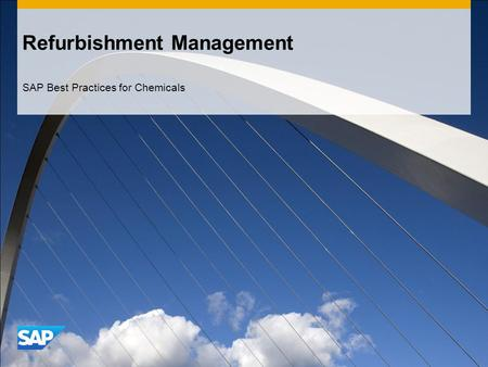 Refurbishment Management SAP Best Practices for Chemicals.