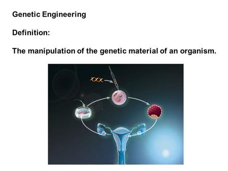 Genetic Engineering Definition: