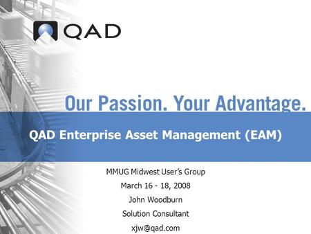 QAD Enterprise Asset Management (EAM)