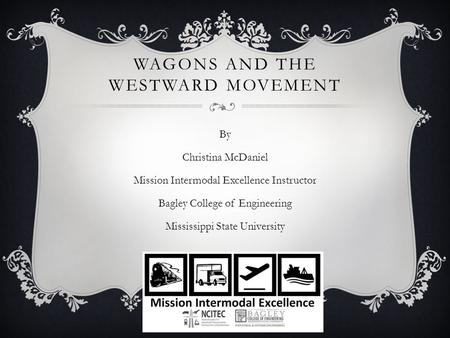 Wagons and the Westward Movement