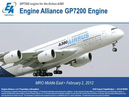 Engine Alliance GP7200 Engine