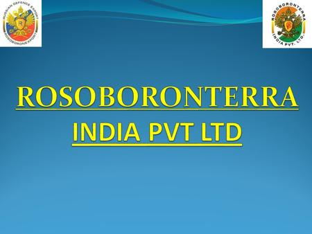 ROSOBORONTERRA IS A JV COMPANY BETWEEN ROSOBORONEXPORT AND INDIAN REGISTERED PUNJ CORPORATION OF THE PUNJ GROUP. MR PETER PUNJ IS THE MANAGING DIRECTOR.