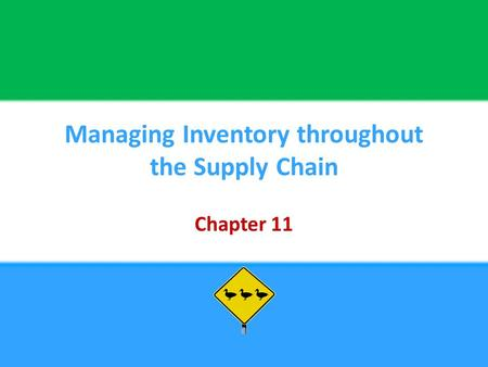 Managing Inventory throughout the Supply Chain Chapter 11.