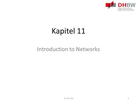 Kapitel 11 Introduction to Networks W. Schulte1. Kapitel 11 11.1 Create and Grow 11.2 Keeping the Network Safe 11.3 Basic Network Performance 11.4 Managing.