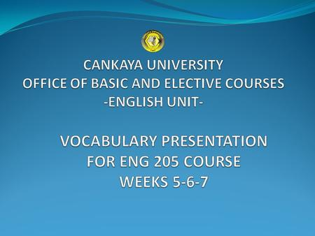 INFORMATION TECHNOLOGY UNIT 2 CANKAYA UNIVERSITY - OFFICE OF BASIC AND ELECTIVE COURSES- ENGLISH UNIT.