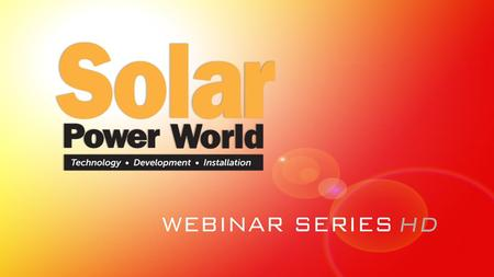 Increasing ROI With Commercial-Scale Inverters Sponsored By:
