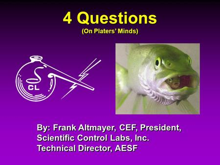 4 Questions (On Platers' Minds)