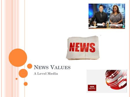 N EWS V ALUES A Level Media. R EALITY IN THE NEWS How realistic is the news? Can you think of any way that the news may be constructed? What is the role.