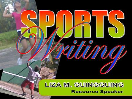 Sports writing allows you to go to town in describing plays, the atmosphere, fans and other colorful aspects of a sporting event.