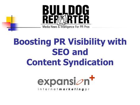 Boosting PR Visibility with SEO and Content Syndication.