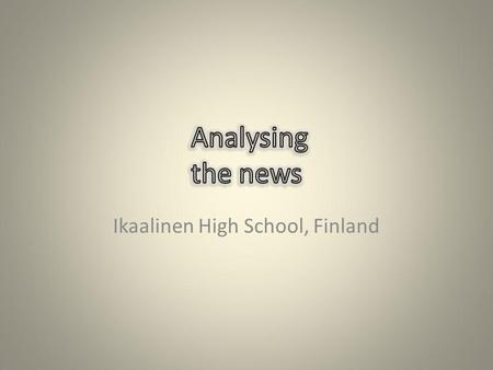 Ikaalinen High School, Finland. The Ikaalinen of today has an area of 843 km2 (of which 93 km2 is water) and the population is 7400. The centre of Ikaalinen.