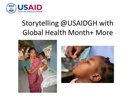 with Global Health Month+ More.