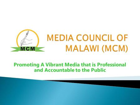 Promoting A Vibrant Media that is Professional and Accountable to the Public.